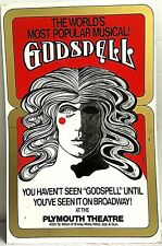 PlayBill Poster Godspell Broadway Musical Window Plymouth Theatre New York 1976