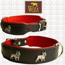 WOZA Premium Hundehalsband Französische Bulldogge Lederhalsband Vollleder O21014