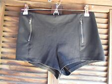 Divided H&M Black Mini Booty Shorts Misses 8 Flat Front Stretch Chic Booty Mesh