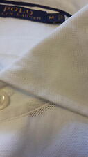 POLO Ralph Lauren Men's Dress White Cotton Shirt size M spread collar $198 NWT