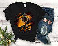 Guitar Inside Unisex T-Shirt - Unisex Clothing - Guitar Player Tees - Musician T
