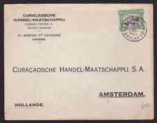 Belgium 1921 Advertising Cover Curacaosche Handel Maatschappij Anvers Amsterdam