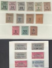 GERMANY 1920 COLLECTION OF 31 LOCALS & REVENUES TO 5 MARKS
