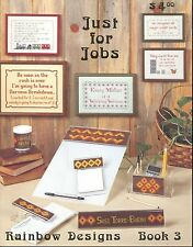 Just For Jobs Cross Stitch Needlepoint Patterns Rainbow Designs Book 3