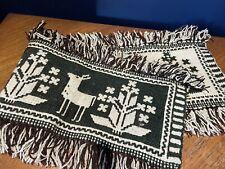 More details for vintage retro folk art deer woven table runner sideboard