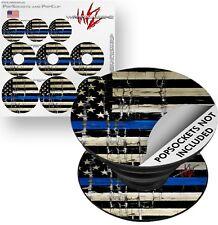 Decal Skin 3 Pack for PopSockets Blue Line Stripe USA Flag POPCOSKET NOT INCLD