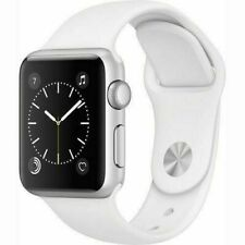 Reloj de Apple serie 3 38mm GPS-banda De Deporte Color Blanco Plateado