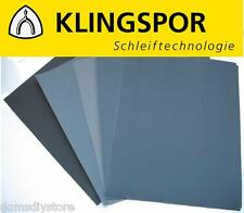 10 x Klingspor Wet and Dry Abrasive Sandpaper Mixed Grade 400 600 800 1000 1200