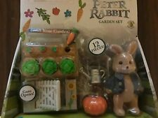 2018 Movie Peter Rabbit 12 pc Garden Set & Figure Beatrix Potter New