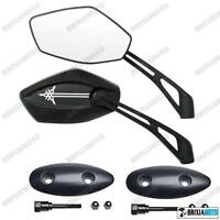 PAIR OF HANDLEBAR MIRRORS INFINITY TMAX T-MAX 500 '01/'07 WITH ADAPTORS