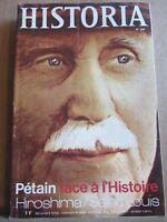 Historia N°285: Pétain face à l'Histoire - Hiroshima - Saint-Louis/ Août 1970