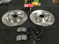 SEAT LEON 1.8T TURBO CUPRA R S3 FRONT DRILLED BRAKE DISCS BREMBO PADS 323MM