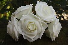 5 x AVORIO tridimensionale Schiuma aperto grandi rose 9cm Nozze Fiori Craft