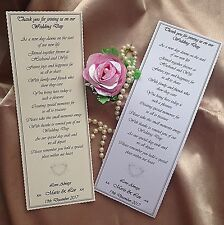 50  PERSONALISED WEDDING FAVOUR THANK YOU  SCROLLS SCALLOPED EDGED