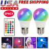 2 Pcs RGB RGBW LED Bulb Light 16 Color Changing E27 Lamp + IR Remote Controller