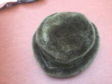 Sombrero De Sombrero De Piel Falsa Caja-Gris