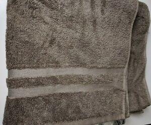 "SONOMA Goods for Life Taupe Bath Towel Blue 30"" x 54"" NWT"