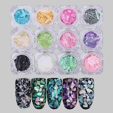 Natural Seashell Nail Art Glitter Sequin For UV GEL Acrylic Nail Tips Decoration