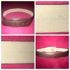VINTAGE Christian Dior Genuine Leather Women's Brown Belt Medium/Large Style#027