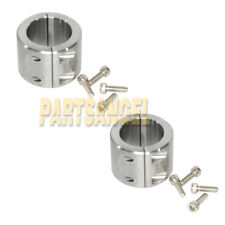 """2 Steel Bolt on Tube Clamps 1.75"""" 1 3/4 Universal Roll Cage Mount Cage Bung Jeep"""