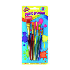 Childrens Paint Brushes Kids Artist, Art and Crafts, 5 Brushes