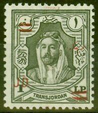 More details for transjordan 1952 king tala 1d on p1 slate-grey sg333 v.f mnh