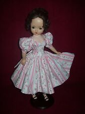 DAY DRESS OF VINTAGE FLORAL WALLPAPER COTTON ~ FOR MADAME ALEXANDER CISSY DOLL