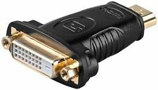 HDMI/DVI-D adaptor gold-plated HDMI male Type A to DVI-D male Dual-Link 24+1 pin
