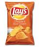 Lay's Cheddar & Sour Cream Flavour Potato Chips 6.5oz 184.2g Crunchy Crisps NEW