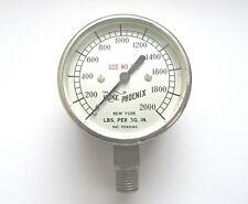 Vintage Hoke Phoenix High Pressure Gauge 2000 Psi Brand New