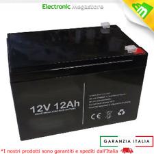 Batteria piombo ricaricabile 12V 12Ah compatibile peg perego COME Fiamm FG21202