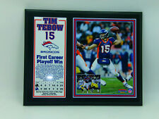 Broncos Tim Tebow 2012 Wall Plaque Mount 2012 First Career Playoff Mile High