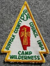 1964 Suffolk County Council Camp Wilderness Patch Baiting Hollow 360 Shinnecock