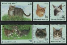1995 Finland, Cats, complete set used.