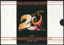 Papua New Guinea set of 6 coins 1 Toea - 1 Kina 1995 BU - Commemorative w/folder