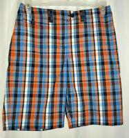 Jones New York Sport Petite colorful plaid Cotton Bermuda Walking Shorts Size 8