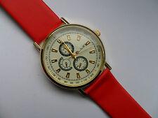 SALDI MOLTO SMART oro e bianco con viso orologio al Quarzo Cordino Rosso Saldi
