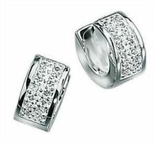 Cubic Zirconia Sterling Silver CZ Earrings & Studs for Men