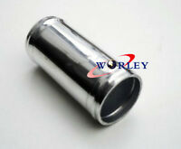 """Aluminum Hose Adapter Joiner Pipe Connector Silicone 102mm 4"""" Inch Silver"""
