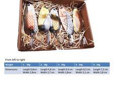 Fishing spoon handmade set, made in europe, pike lure, gift idea, bass bait F