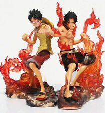 2 unids 15 cm de One Piece DX Hermandad Ace Luffy Anime Cartoon