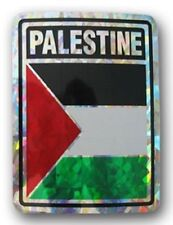Wholesale Lot 12 Palestine Country Flag Reflective Decal Bumper Sticker