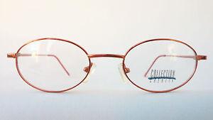 ovale Brillefassung kupfer rotbraun kleine ovale Form leicht dünn neu Größe M