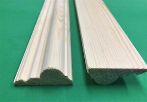 DADO RAIL DECORATIVE MOULDING TRADITIONAL STYLE PINE WOOD 45*20*1200MM QTY 2