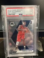 2019-20 Panini Mosaic Zion Williamson Rookie Card Red Jersey Variation PSA 9 RC