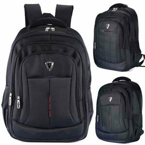 Mens Laptop Backpack 17 inch notebook Rucksack Waterproof Extra Large bag 2 type