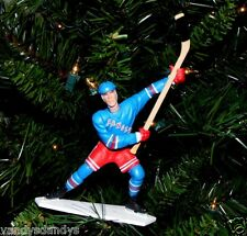 mark MESSIER new york RANGERS hockey NHL xmas TREE ornament HOLIDAY jersey BLUE