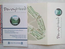 PERCY WOOD,MORPETH NORTHUMBERLAND COURSE GOLF GUIDE + SCORE CARD.2006,NEW