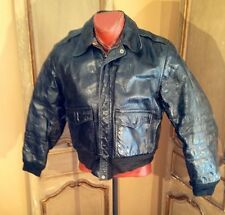 Vintage Horsehide Cafe Racer Motorcycle Leather Jacket Mens 30's Size Medium