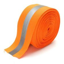 Safety Silver Reflective Sew On Fabric Tape Strip Orange Vest 2""